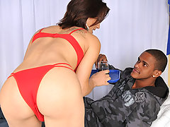 Buxom tranny slut getting her ass stretched with dick
